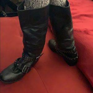 Black boots tall